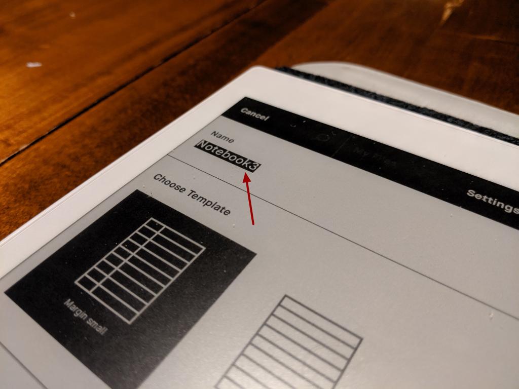 Geef een naam aan het notebook op je remarkable paper tablet